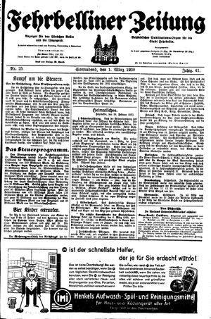 Fehrbelliner Zeitung on Mar 1, 1930