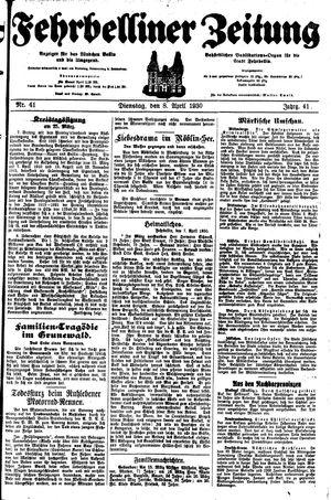 Fehrbelliner Zeitung vom 08.04.1930