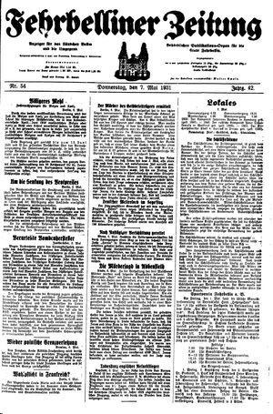 Fehrbelliner Zeitung vom 07.05.1931