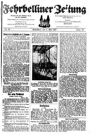 Fehrbelliner Zeitung vom 06.05.1933