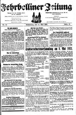 Fehrbelliner Zeitung vom 11.05.1933