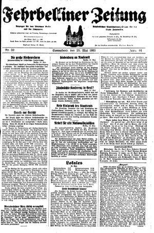 Fehrbelliner Zeitung vom 20.05.1933