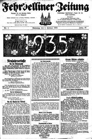 Fehrbelliner Zeitung on Jan 1, 1935