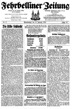 Fehrbelliner Zeitung vom 17.01.1935