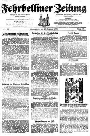 Fehrbelliner Zeitung vom 26.01.1935