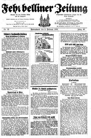 Fehrbelliner Zeitung on Feb 2, 1935