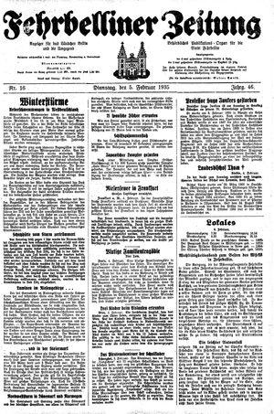Fehrbelliner Zeitung vom 05.02.1935