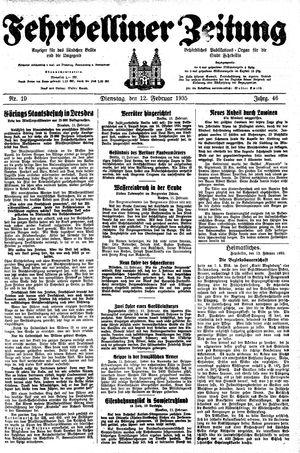 Fehrbelliner Zeitung vom 12.02.1935