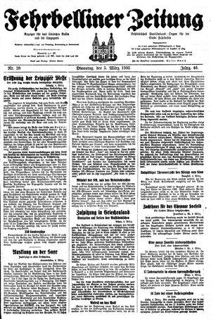 Fehrbelliner Zeitung vom 05.03.1935