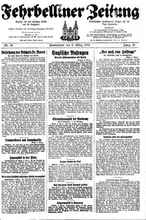 Fehrbelliner Zeitung vom 09.03.1935