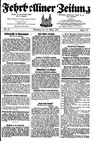 Fehrbelliner Zeitung vom 12.03.1935