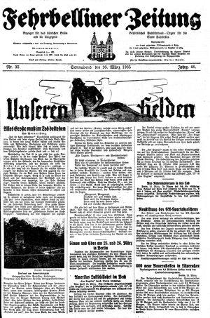 Fehrbelliner Zeitung vom 16.03.1935