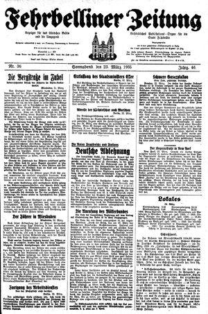 Fehrbelliner Zeitung vom 23.03.1935