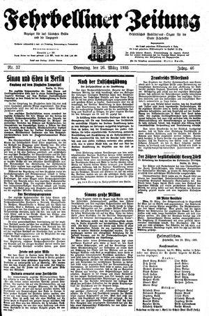 Fehrbelliner Zeitung vom 26.03.1935