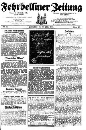 Fehrbelliner Zeitung vom 30.03.1935