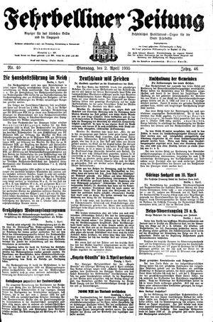 Fehrbelliner Zeitung vom 02.04.1935