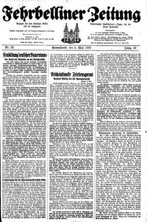 Fehrbelliner Zeitung vom 04.05.1935