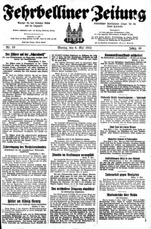 Fehrbelliner Zeitung vom 06.05.1935