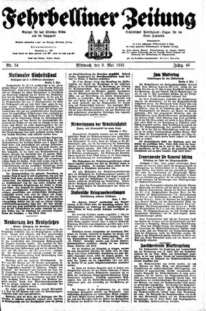 Fehrbelliner Zeitung vom 08.05.1935