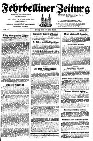 Fehrbelliner Zeitung vom 10.05.1935