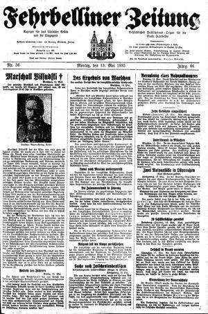 Fehrbelliner Zeitung vom 13.05.1935
