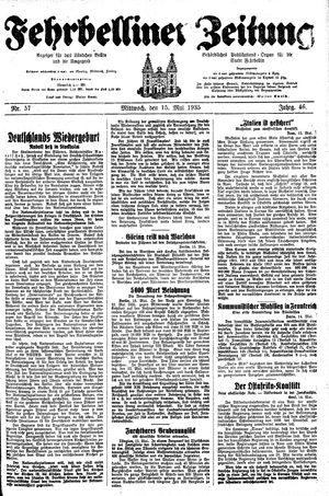 Fehrbelliner Zeitung vom 15.05.1935