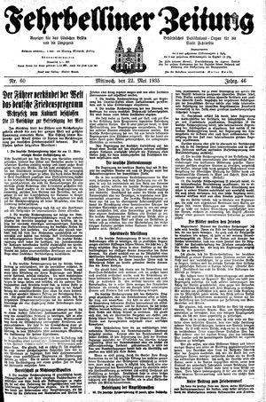 Fehrbelliner Zeitung vom 22.05.1935