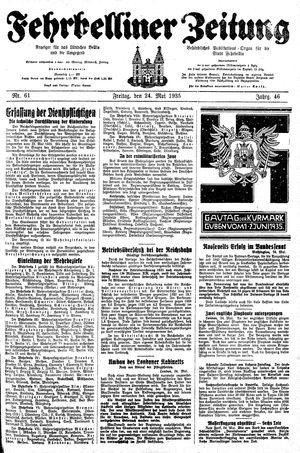 Fehrbelliner Zeitung on May 24, 1935
