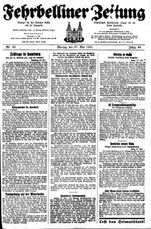 Fehrbelliner Zeitung vom 27.05.1935
