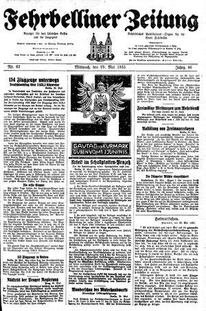 Fehrbelliner Zeitung vom 29.05.1935