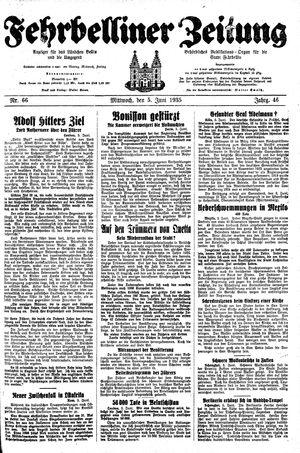 Fehrbelliner Zeitung vom 05.06.1935