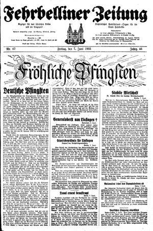 Fehrbelliner Zeitung vom 07.06.1935