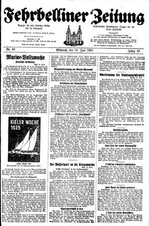 Fehrbelliner Zeitung vom 12.06.1935
