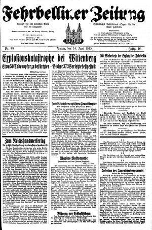 Fehrbelliner Zeitung vom 14.06.1935