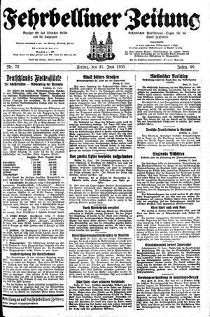 Fehrbelliner Zeitung vom 21.06.1935