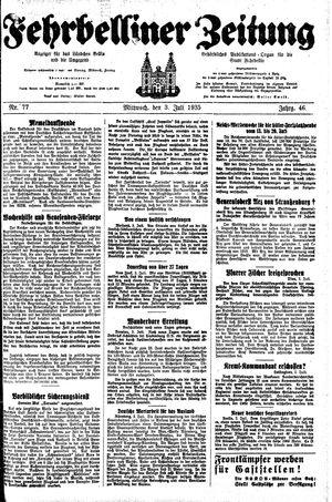 Fehrbelliner Zeitung vom 03.07.1935