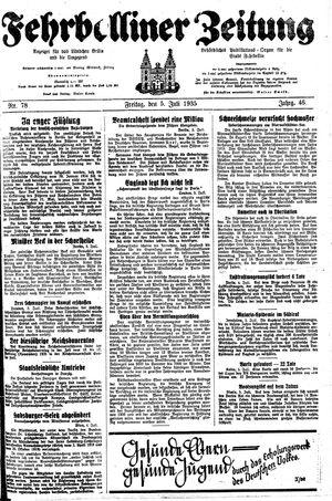 Fehrbelliner Zeitung vom 05.07.1935