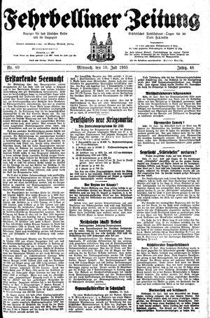Fehrbelliner Zeitung vom 10.07.1935