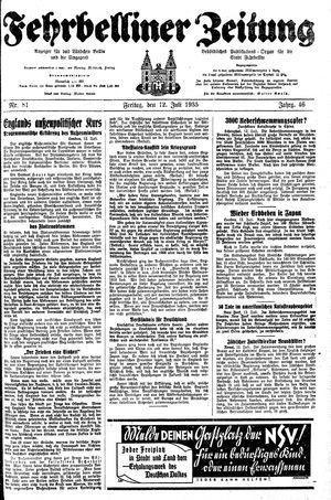 Fehrbelliner Zeitung vom 12.07.1935