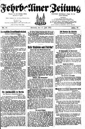 Fehrbelliner Zeitung vom 17.07.1935
