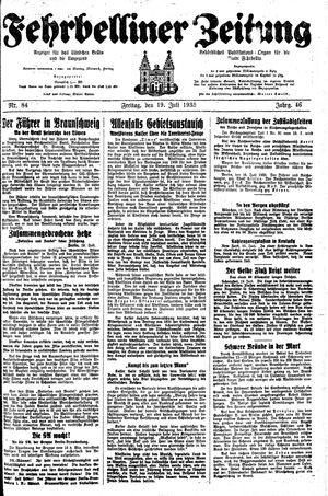 Fehrbelliner Zeitung vom 19.07.1935