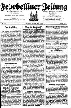 Fehrbelliner Zeitung vom 24.07.1935