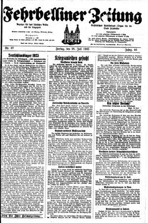 Fehrbelliner Zeitung vom 26.07.1935