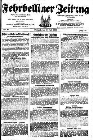 Fehrbelliner Zeitung vom 31.07.1935