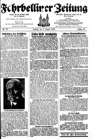 Fehrbelliner Zeitung vom 02.08.1935