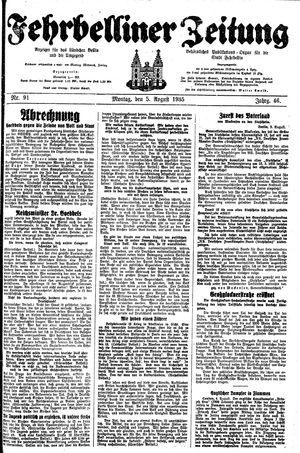 Fehrbelliner Zeitung vom 05.08.1935
