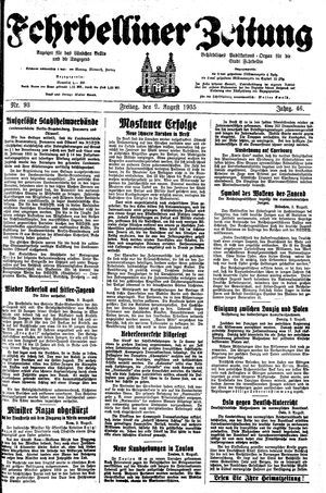 Fehrbelliner Zeitung vom 09.08.1935
