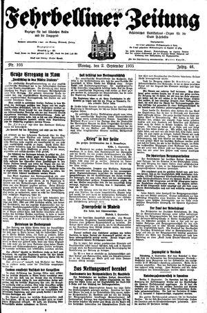 Fehrbelliner Zeitung vom 02.09.1935