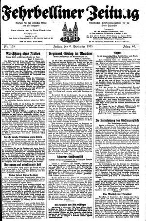 Fehrbelliner Zeitung vom 06.09.1935