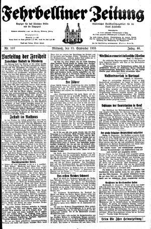 Fehrbelliner Zeitung vom 11.09.1935